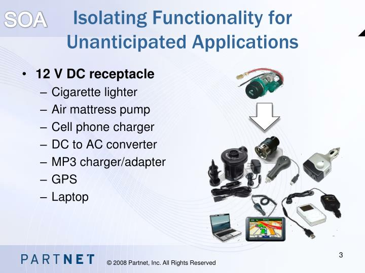 Isolating functionality for unanticipated applications