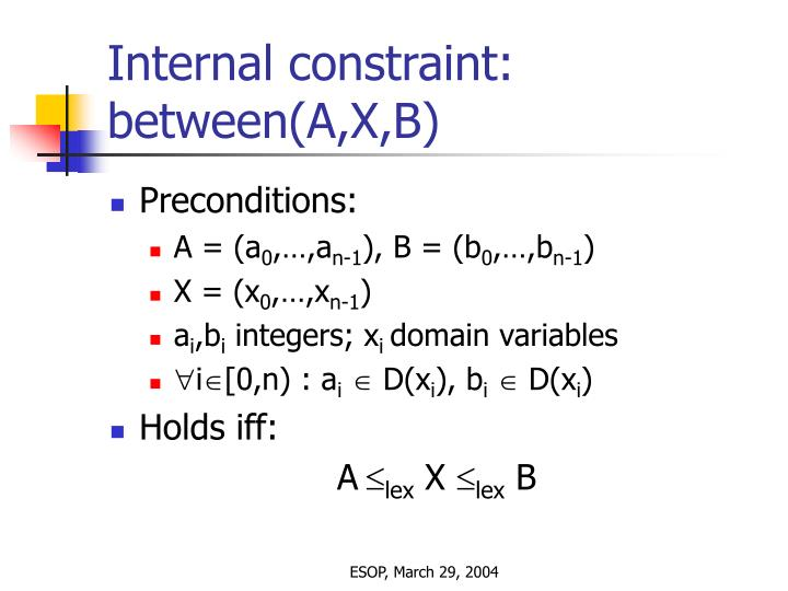 Internal constraint: