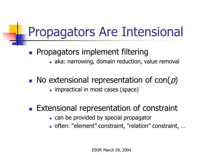 Propagators Are Intensional