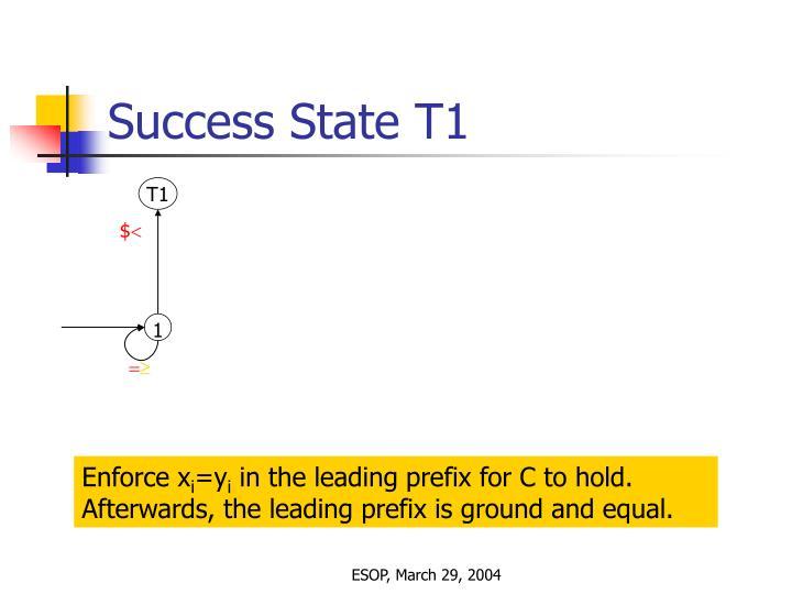 Success State T1