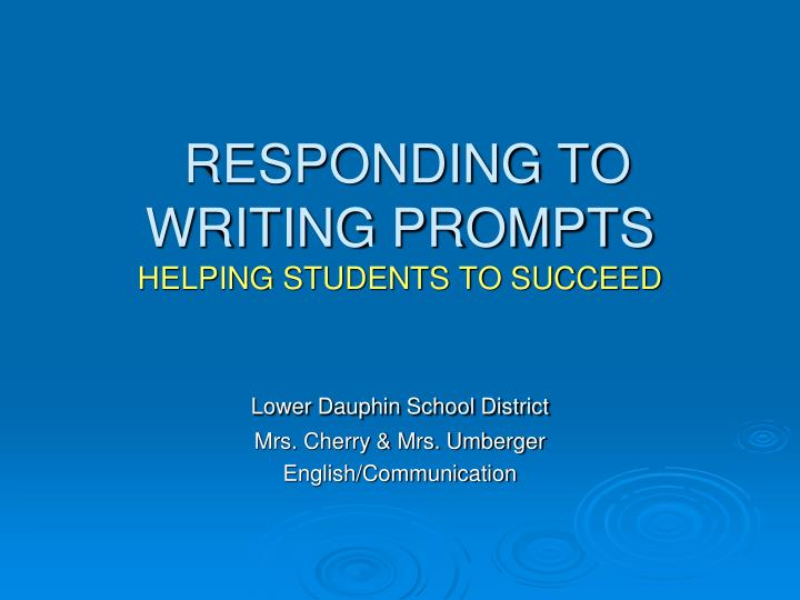 responding to writing prompts helping students to succeed n.