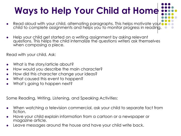 Ways to Help Your Child at Home