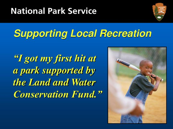 Supporting Local Recreation