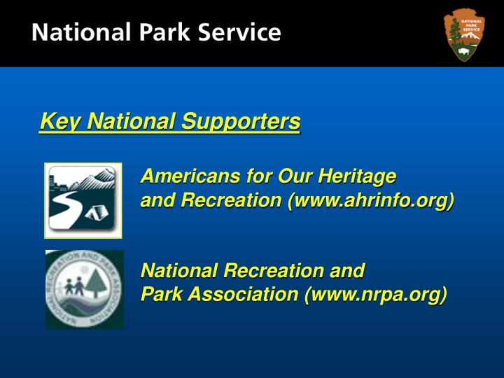 Key National Supporters
