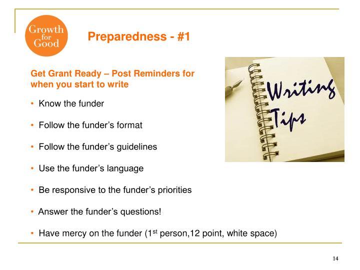 Preparedness - #1