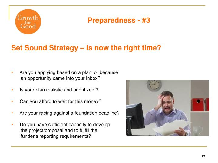 Preparedness - #3
