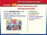 small business and entrepreneurship