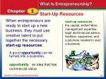 start up resources
