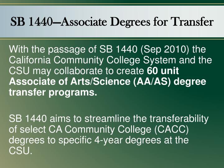 SB 1440—Associate Degrees