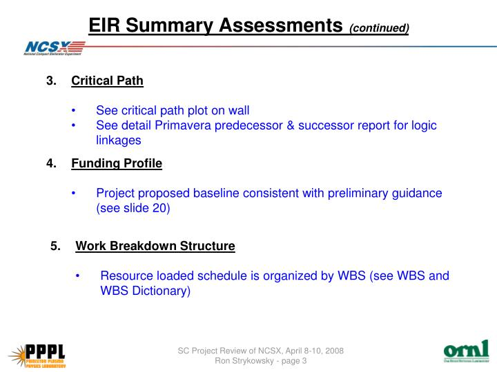 Eir summary assessments continued1