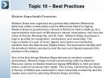 topic 10 best practices
