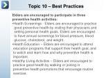 topic 10 best practices1