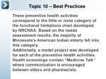 topic 10 best practices2