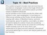 topic 10 best practices5