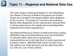 topic 11 regional and national data use