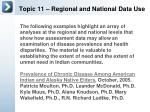 topic 11 regional and national data use2