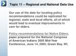 topic 11 regional and national data use5