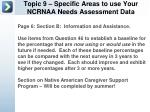 topic 9 specific areas to use your ncrnaa needs assessment data2