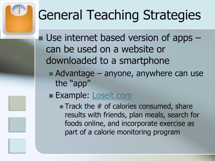 General Teaching Strategies