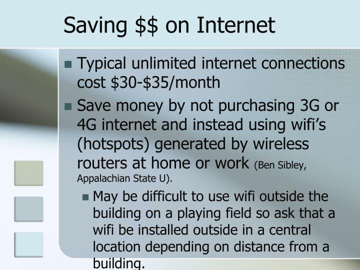 Saving $$ on Internet
