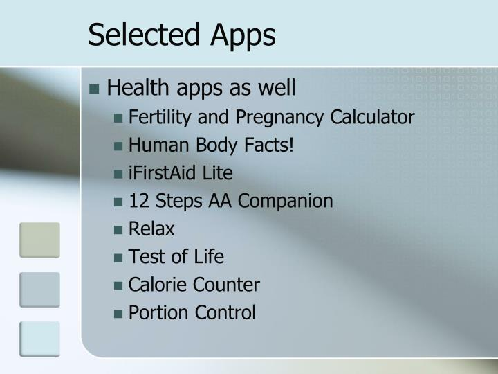 Selected Apps