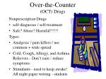 over the counter oct drugs