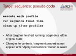 target sequence pseudo code