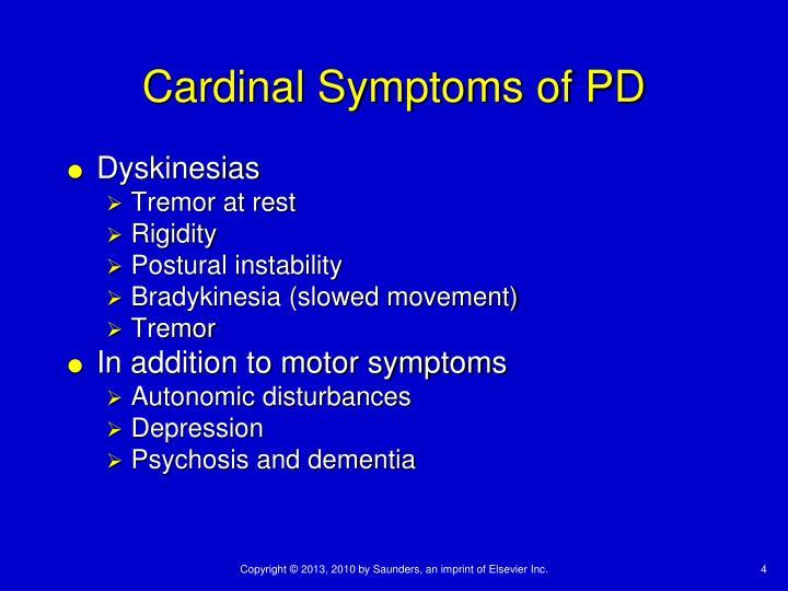 Cardinal Symptoms of PD