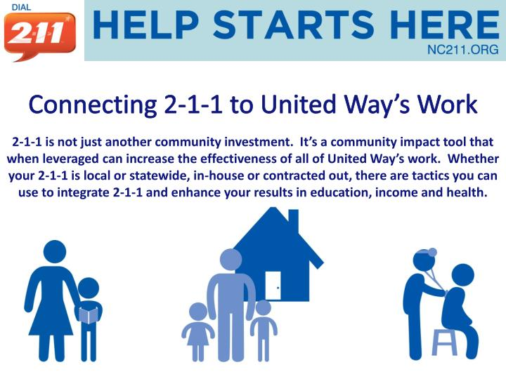 Connecting 2-1-1 to United Way's Work