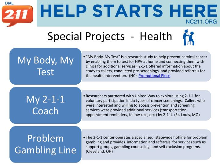 Special Projects  -  Health