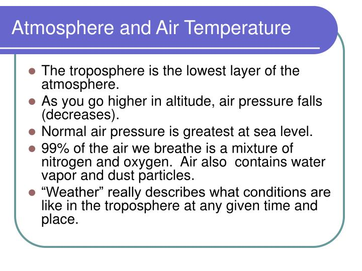 Atmosphere and air temperature1