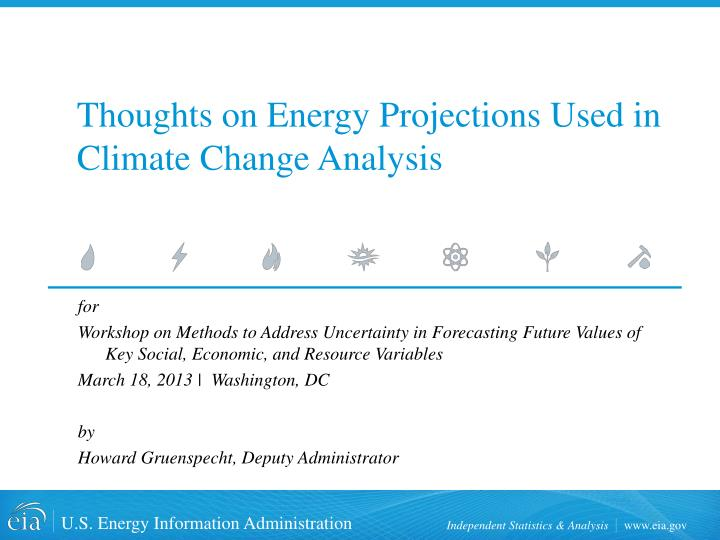 thoughts on energy projections used in climate change analysis n.