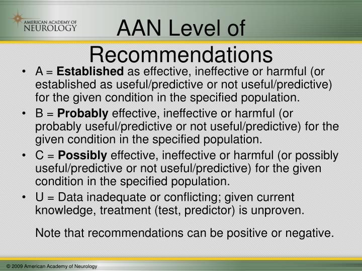 AAN Level of