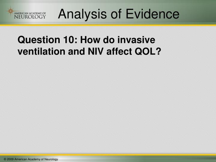 Analysis of Evidence
