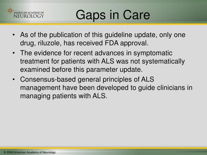Gaps in Care