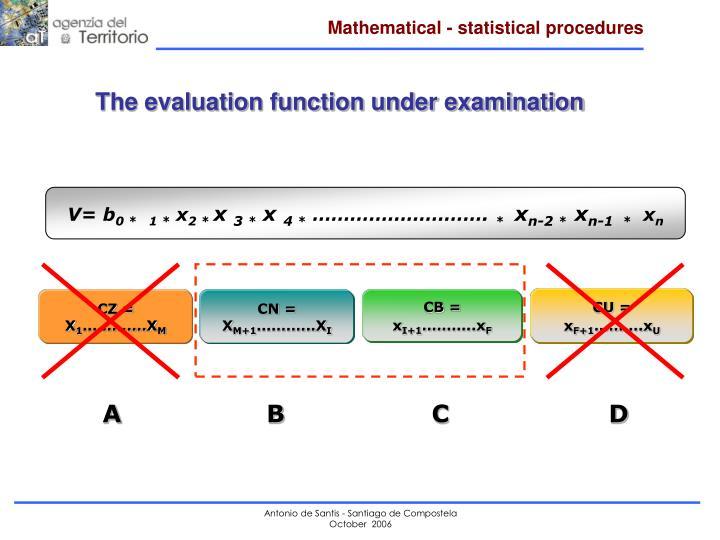 Mathematical - statistical procedures