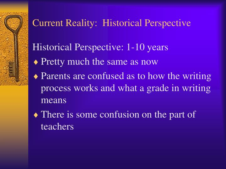 Current reality historical perspective1