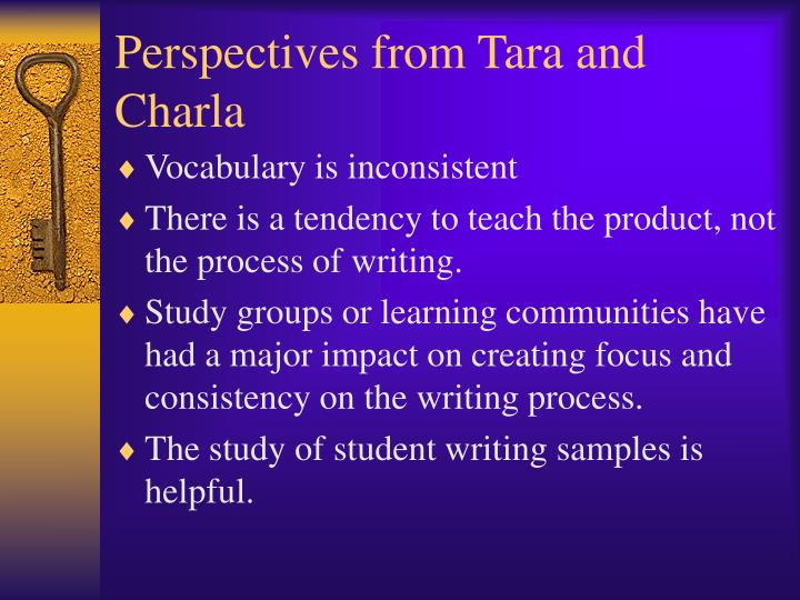 Perspectives from Tara and Charla