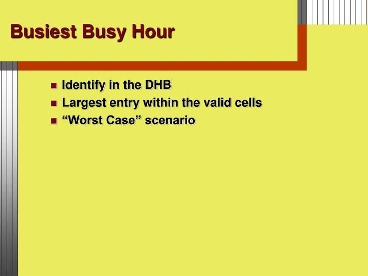 Busiest Busy Hour