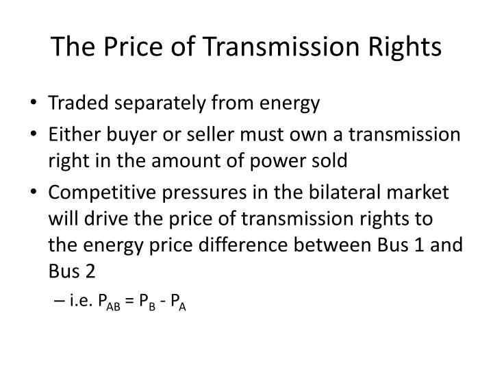 The Price of Transmission Rights