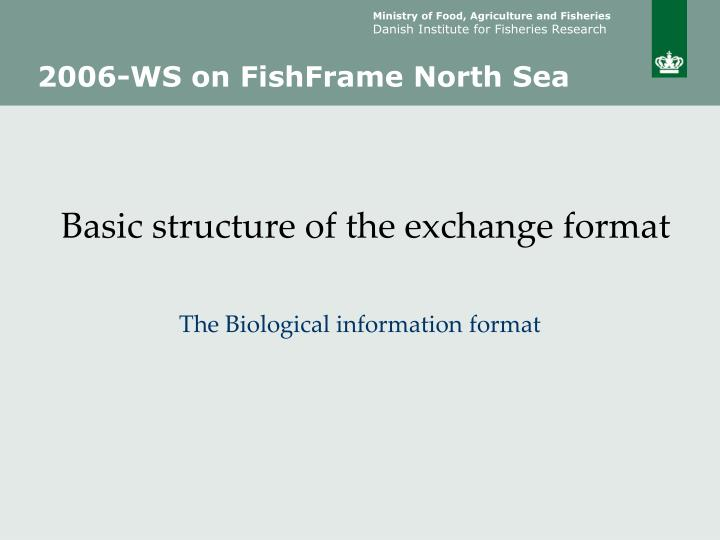 Basic structure of the exchange format
