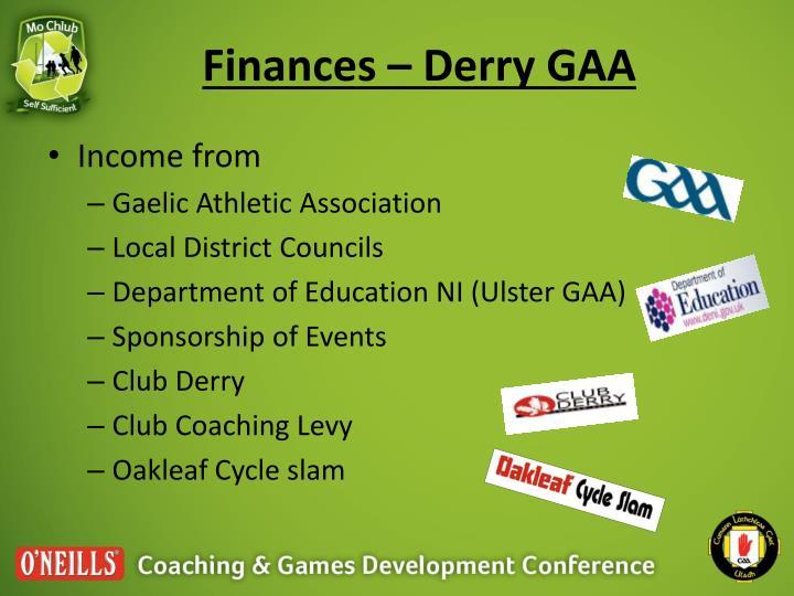 Finances – Derry GAA
