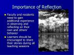 importance of reflection