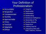 your definition of professionalism1