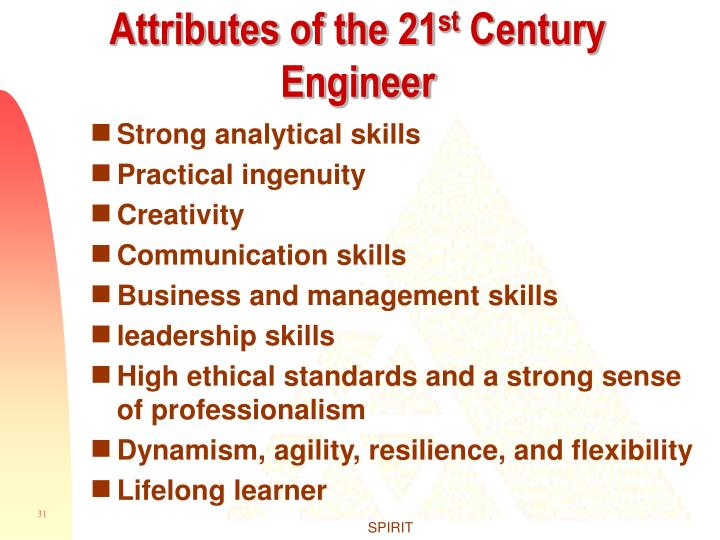 Attributes of the 21