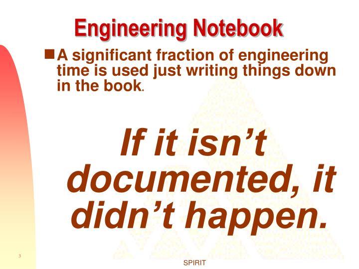Engineering notebook