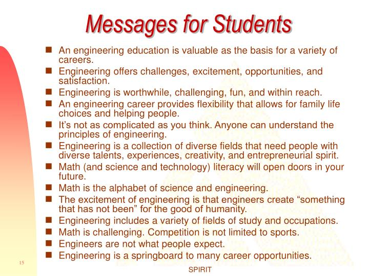 Messages for Students