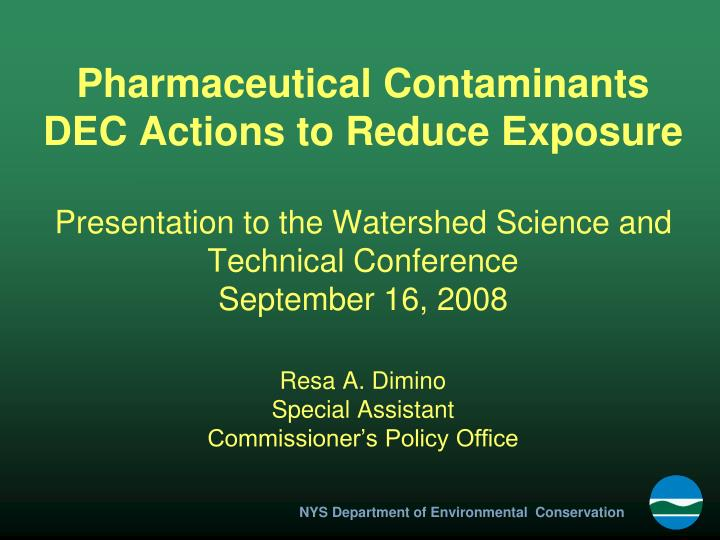 Pharmaceutical Contaminants