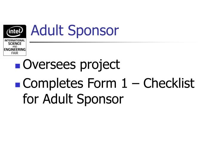 Adult sponsor