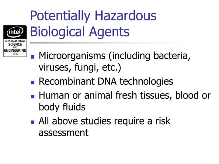 Potentially Hazardous Biological Agents